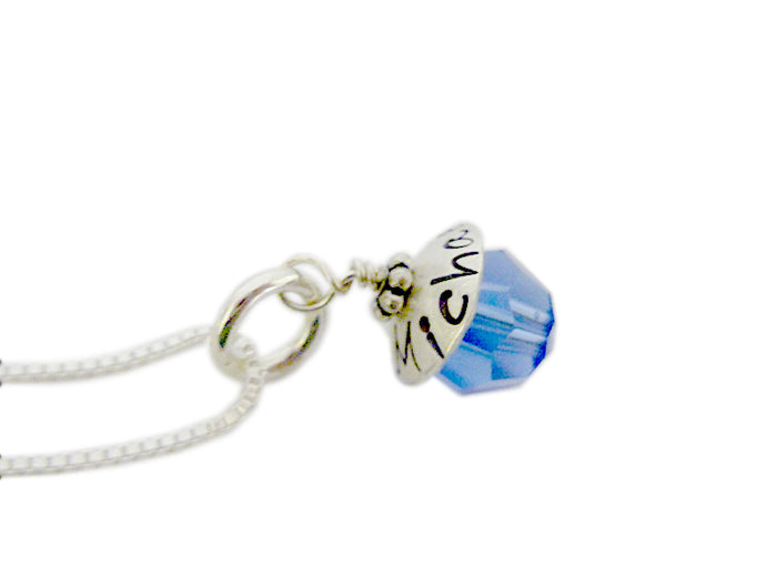 Personalized Birthstone Ball Necklace