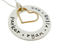 Load image into Gallery viewer, Personalized Eternity Circle with Copper Heart Charm