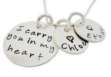 Load image into Gallery viewer, Personalized I Carry You in my Heart Necklace