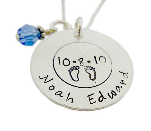 Personalized Birth Details Necklace