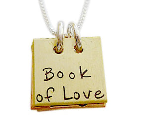 Personalized Mixed Metal Book of Love Necklace