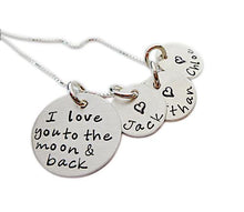 Load image into Gallery viewer, Personalized Love You to the Moon Necklace