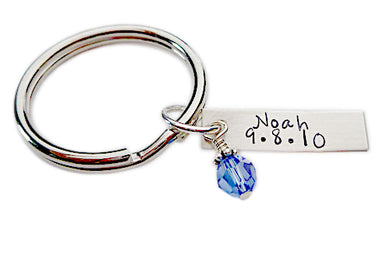 Personalized Name and Birthdate Keychain