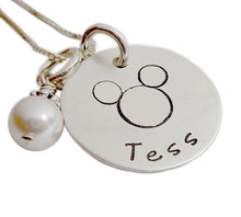 Load image into Gallery viewer, Stamped and Personalized Mouse Necklace