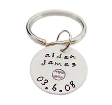 Load image into Gallery viewer, Hand Stamped Dad or Grandpa Keychain