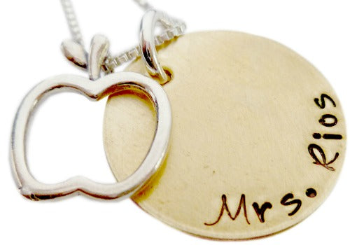 Personalized Teacher Appreciation Necklace