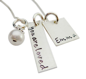 Personalized You are Loved with Name Necklace