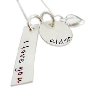 Personalized I Love You Necklace
