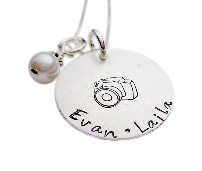 Hand Stamped Shutterbug Necklace