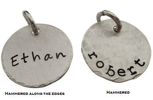 Personalized Hand Stamped Name Charm