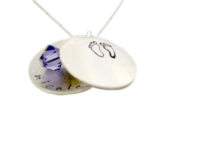 Hand Stamped Design Locket