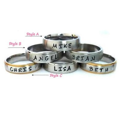 Personalized Hand Stamped Ring