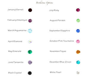 Personalized Washer with Birthstones Necklace