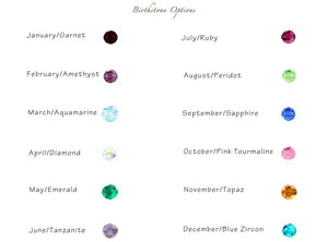 Personalized Family Tree of Birthstones