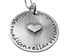 Load image into Gallery viewer, Hand Stamped Always in my Heart Necklace