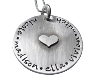Hand Stamped Always in my Heart Necklace