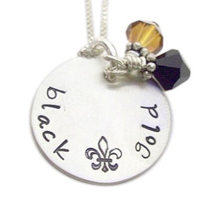 Hand Stamped Sports Team Necklace