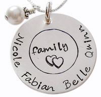 Load image into Gallery viewer, Hand Stamped Family Necklace