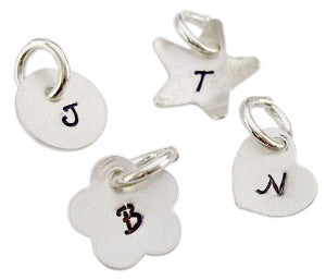 Personalized Hand Stamped Initial Charm