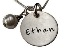 Load image into Gallery viewer, Hand Stamped Name Necklace