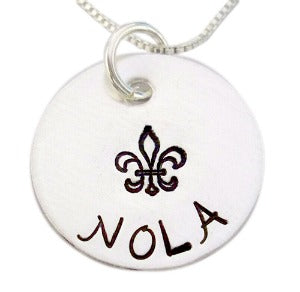 Hand Stamped Nola Necklace