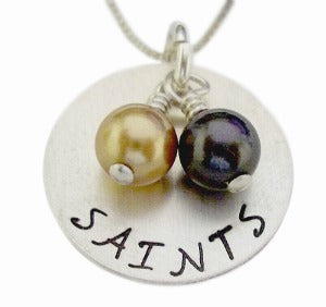 Hand Stamped Saints Necklace