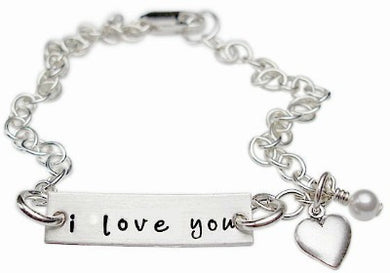 Stamped I Love You Charm Bracelet