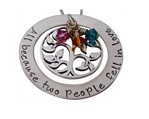Personalized All Because Two People Necklace