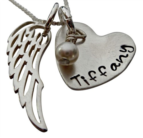 Personalized Angel in Heaven Necklace