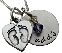 Load image into Gallery viewer, Personalized Baby Feet Necklace