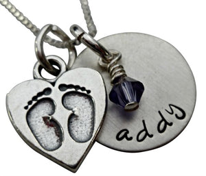 Personalized Baby Feet Necklace