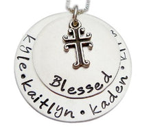 Load image into Gallery viewer, Personalized Blessed Stacked Necklace
