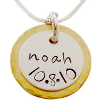 Load image into Gallery viewer, Personalized Brass and Sterling Necklace