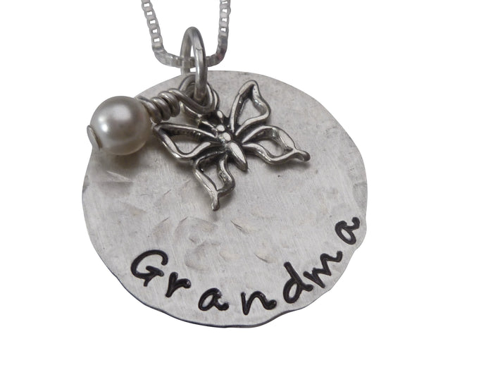 Personalized Butterfly Necklace