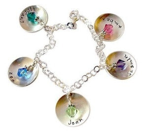 Personalized Domed Mommy Charm Bracelet