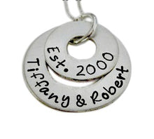 Load image into Gallery viewer, Personalized Dual Sterling Silver Washer Necklace