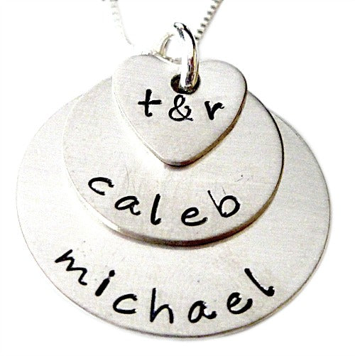 Stacked Personalized Family Necklace