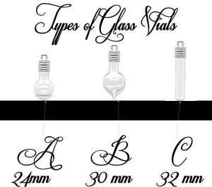 Personalized Glass Vial of Love with Birthstones