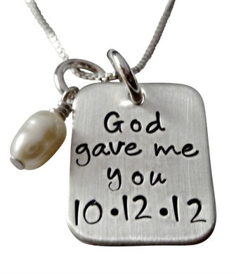 Personalized God Gave Me You Necklace