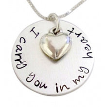 Load image into Gallery viewer, Personalized I Carry You with Heart Necklace