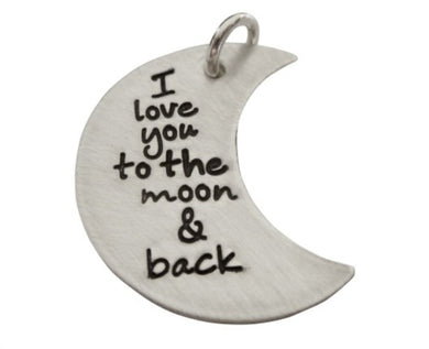Personalized I Love You to the Moon and Back Charm