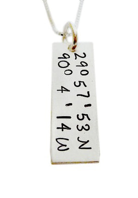 Personalized Longitude Latitude Coordinates Necklace