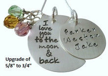 Load image into Gallery viewer, Personalized Love You to the Moon and Back Necklace