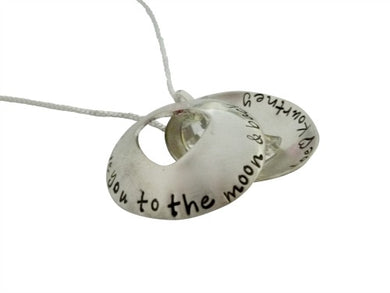 Personalized Love You to the Moon and Back Locket Necklace