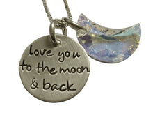 Load image into Gallery viewer, Swarovski Moon and Back Necklace