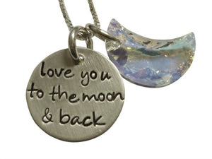 Swarovski Moon and Back Necklace