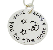 Load image into Gallery viewer, Personalized Moon Face and Stars Necklace