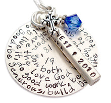 Load image into Gallery viewer, Personalized Quote with Bar and Charm Necklace