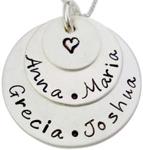 Load image into Gallery viewer, Personalized Stacked Family Necklace