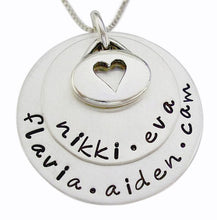 Load image into Gallery viewer, Personalized Stacked Necklace with Oval Charm
